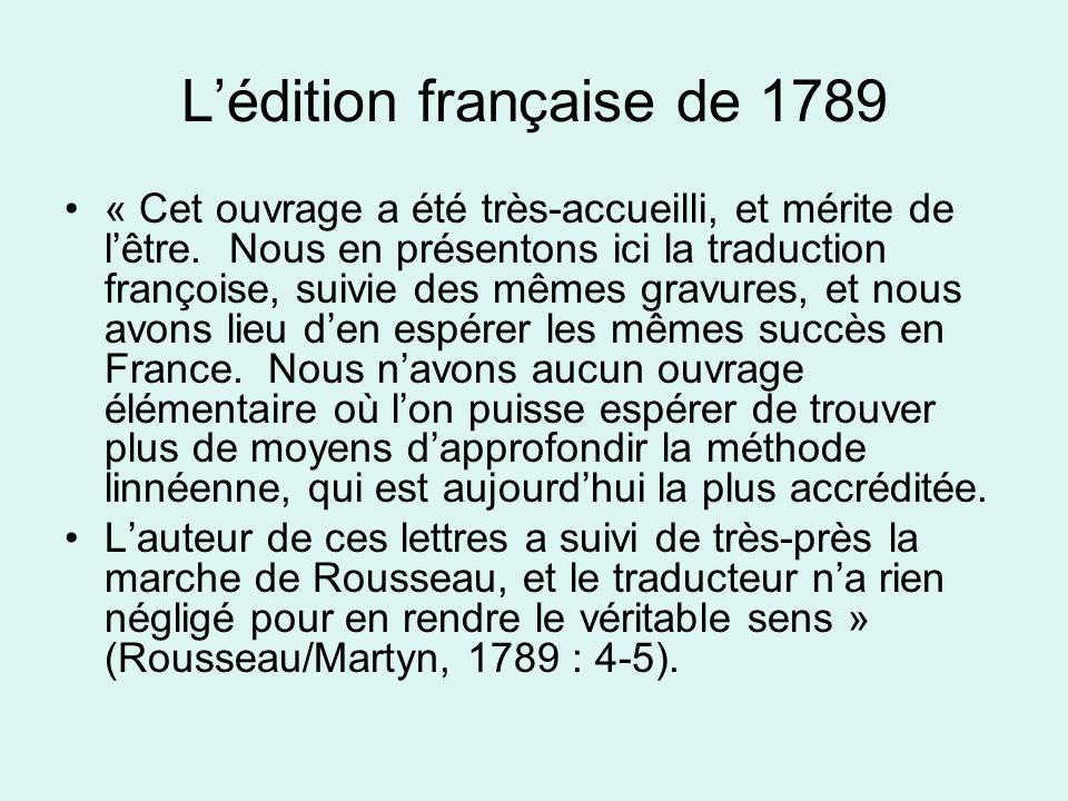L'édition française de 1789 « Cet ouvrage a été très-accueilli, et mérite de l'être.