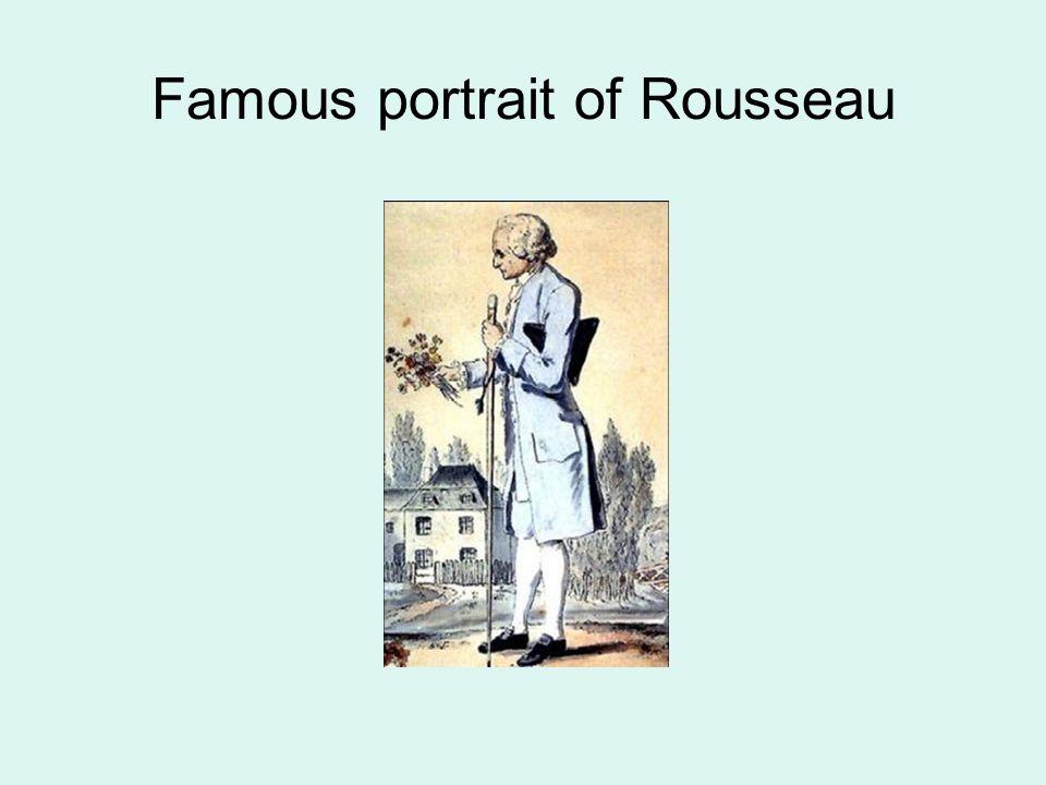 Famous portrait of Rousseau