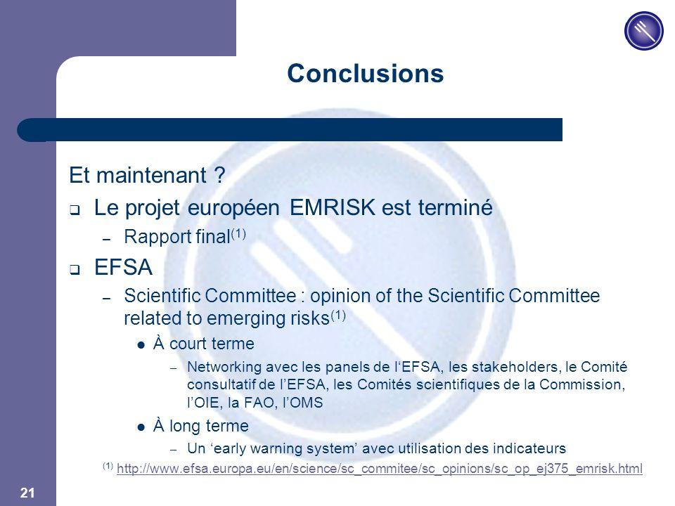 JPM 21 Conclusions Et maintenant .