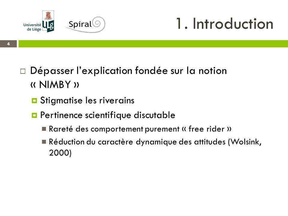 1.Introduction 5  Quels facteurs influencent l'acceptabilité selon la littérature scientifique.