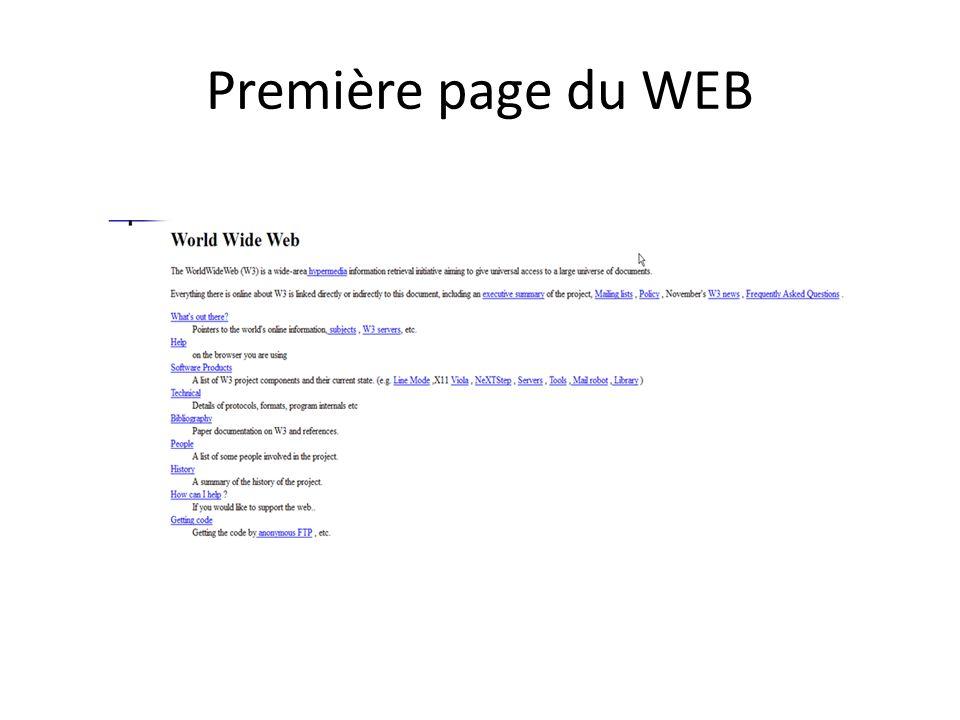 Première page du WEB