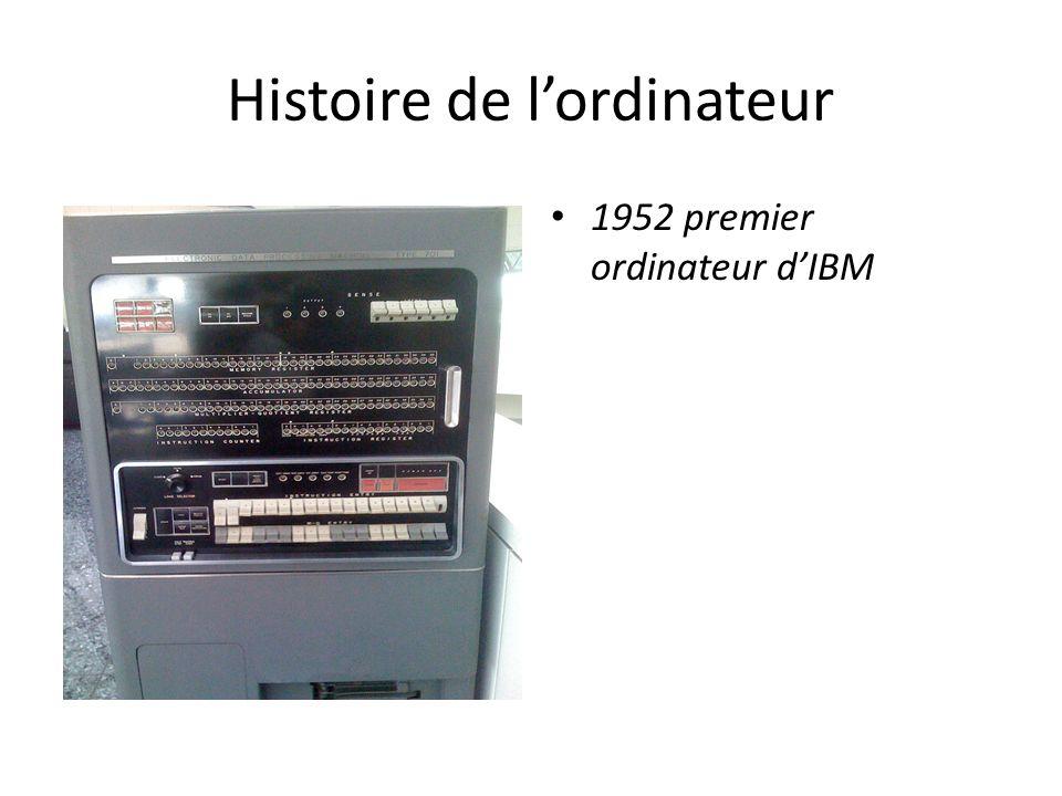 Histoire de l'ordinateur 1952 premier ordinateur d'IBM