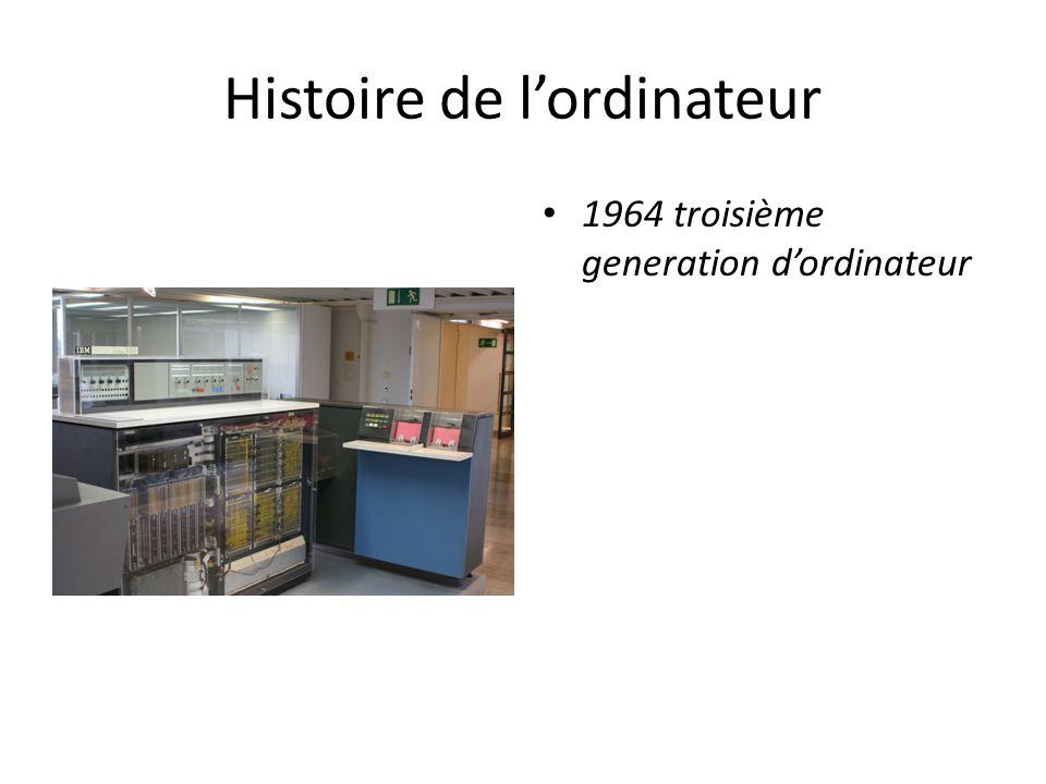 Histoire de l'ordinateur 1964 troisième generation d'ordinateur