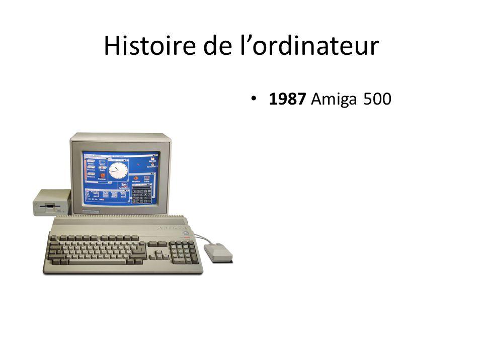 Histoire de l'ordinateur 1987 Amiga 500