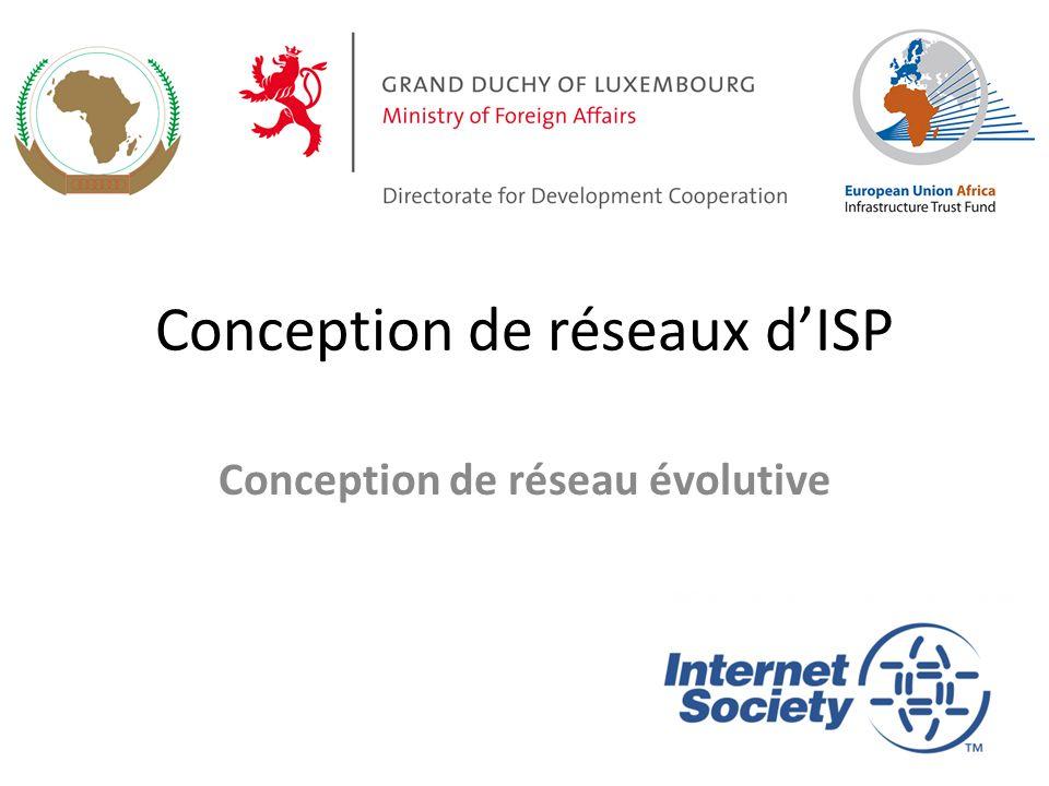 Conception de réseaux d'ISP Conception de réseau évolutive 1