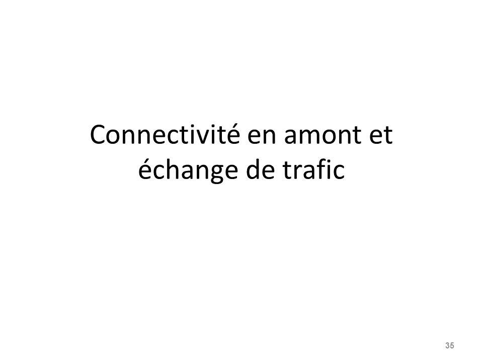 Connectivité en amont et échange de trafic 35