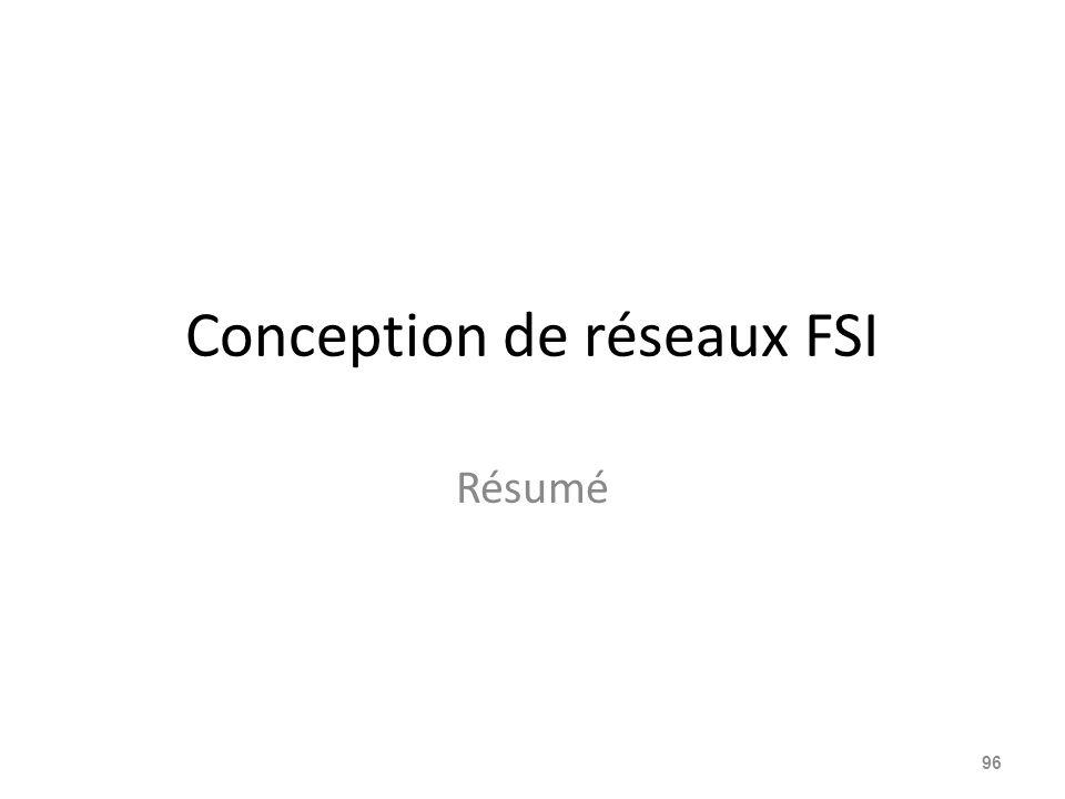 Conception de réseaux FSI Résumé 96