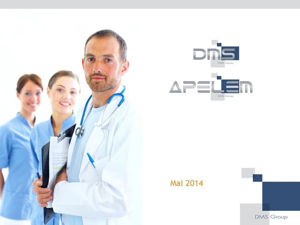 Fiche d'identité du Groupe DMS Leader français dans le développement, la conception et la fabrication de systèmes d'imagerie médicale 82 collaborateurs sur 2 sites d'exploitation (Nîmes et Mauguio) 24 M€ de chiffre d'affaires en 2013 dont plus de 80% à l'export 20 M€ investi en R&D depuis la création du Groupe Société labellisée « entreprise innovante »  Label en cours de renouvellement Coté sur NYSE-Euronext Paris (Comp.