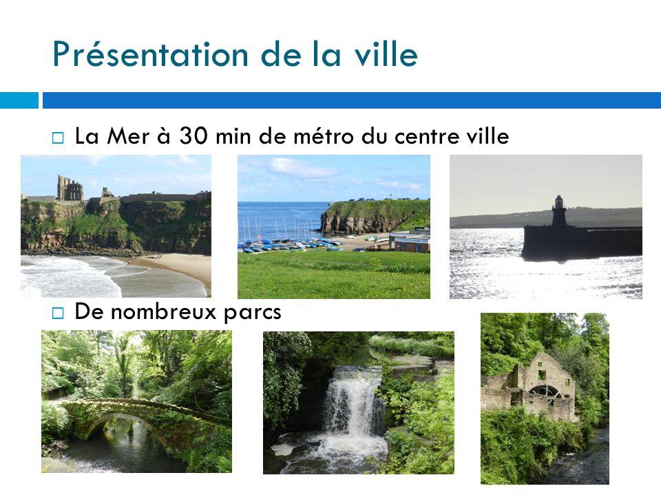 Présentation de la ville  La Mer à 30 min de métro du centre ville  De nombreux parcs