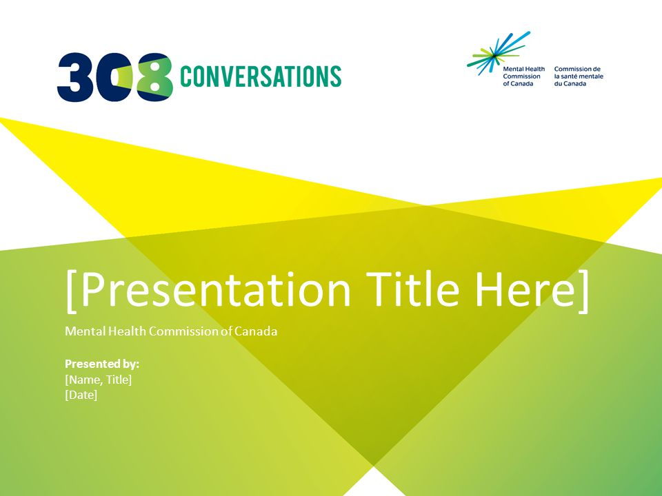 [Presentation Title Here] Mental Health Commission of Canada Presented by: [Name, Title] [Date]