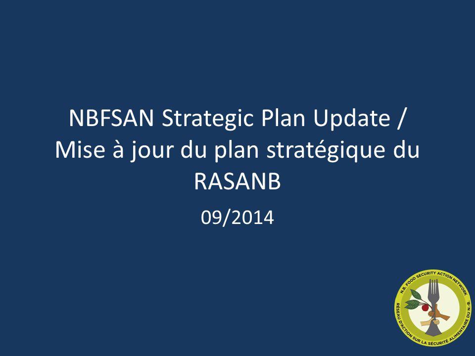 NBFSAN Strategic Plan Update / Mise à jour du plan stratégique du RASANB 09/2014