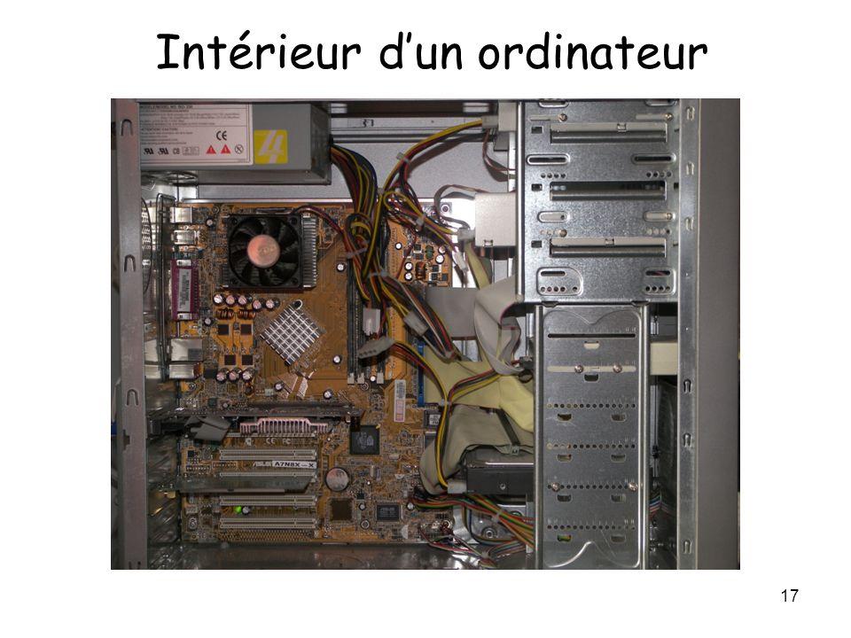 17 Intérieur d'un ordinateur