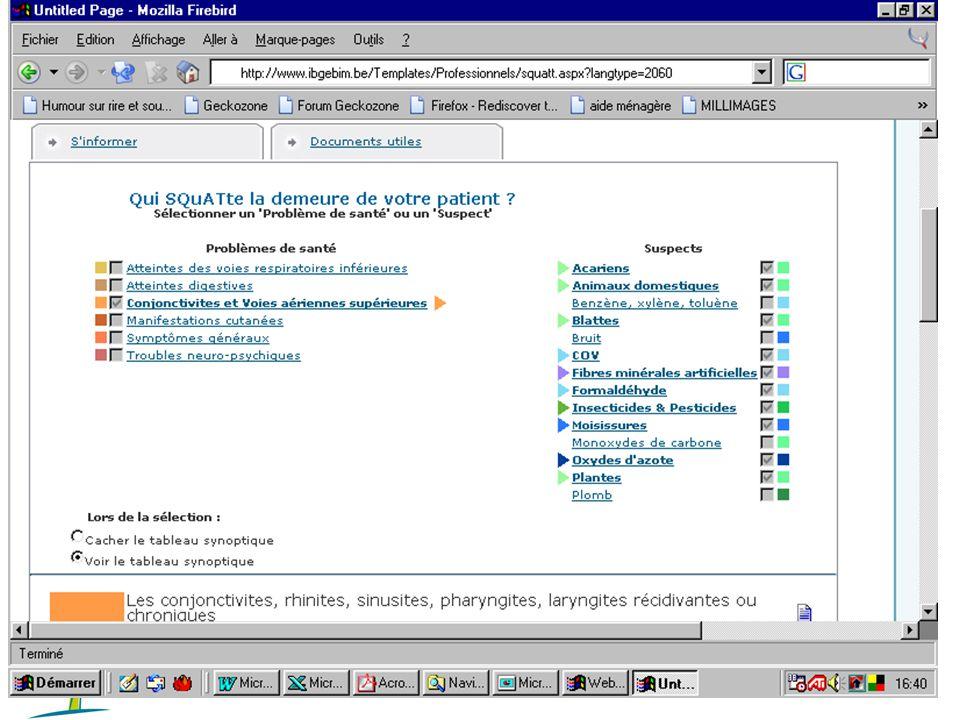 Institut Bruxellois pour la Gestion de l'EnvironnementSEnT - 25/05/2010 29 Approche opérationnelle : qui SQuATte la maison du patient .