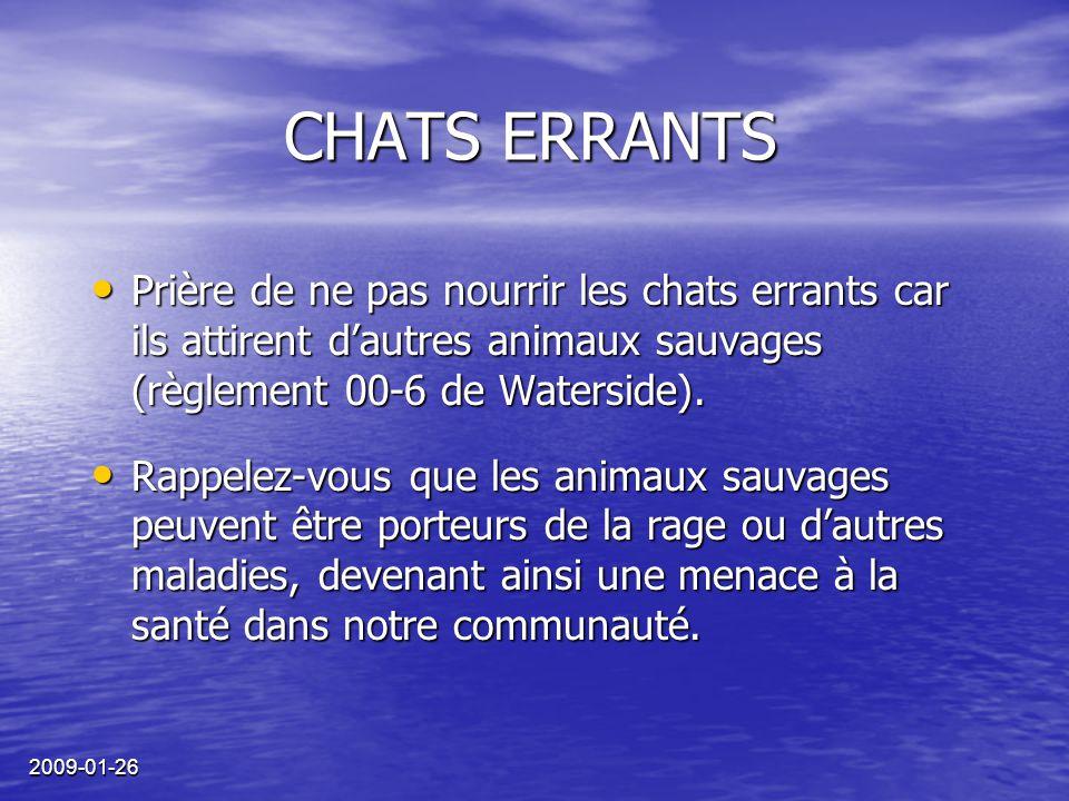 2009-01-26 Le babillard de Waterside est maintenant OUVERT! INSCRIVEZ-VOUS