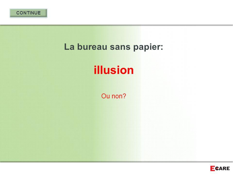 La bureau sans papier: illusion Ou non?
