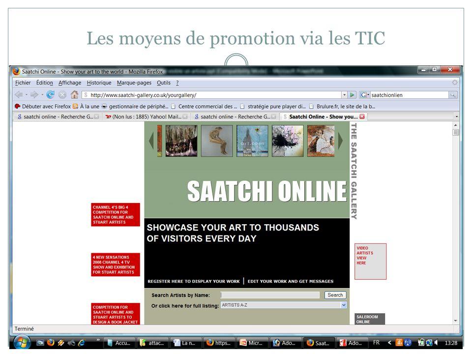 Les moyens de promotion via les TIC