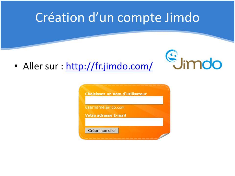 Création d'un compte Jimdo Aller sur : http://fr.jimdo.com/http://fr.jimdo.com/