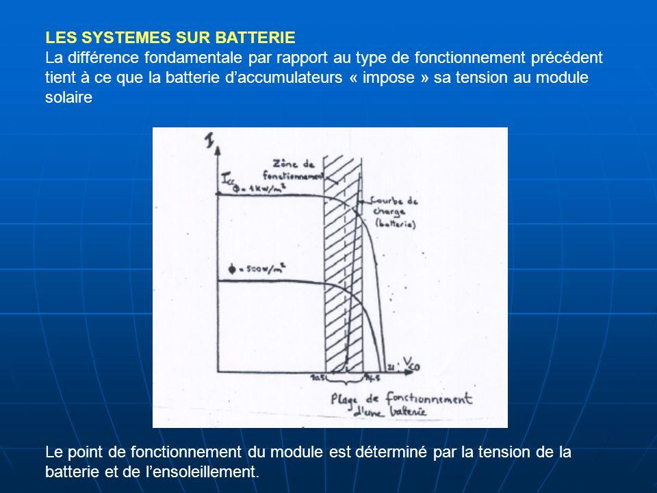 LES SYSTEMES SUR BATTERIE La différence fondamentale par rapport au type de fonctionnement précédent tient à ce que la batterie d'accumulateurs « impo