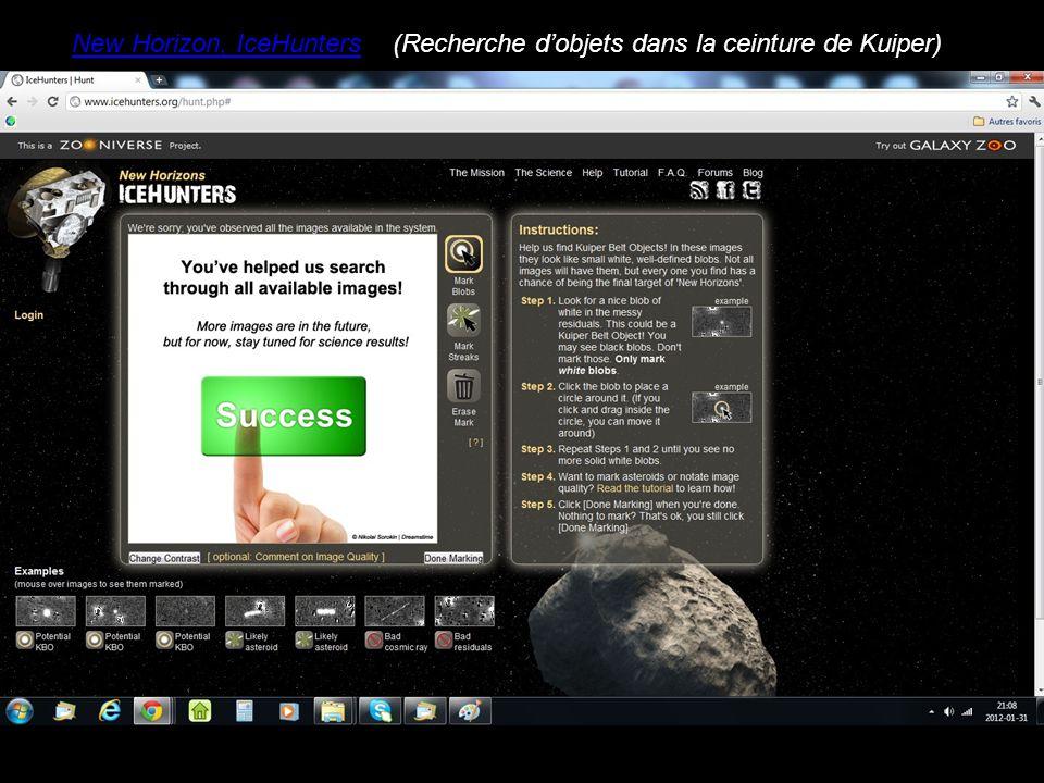 New Horizon, IceHunters(Recherche d'objets dans la ceinture de Kuiper)