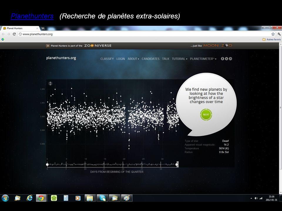 Planethunters(Recherche de planètes extra-solaires)