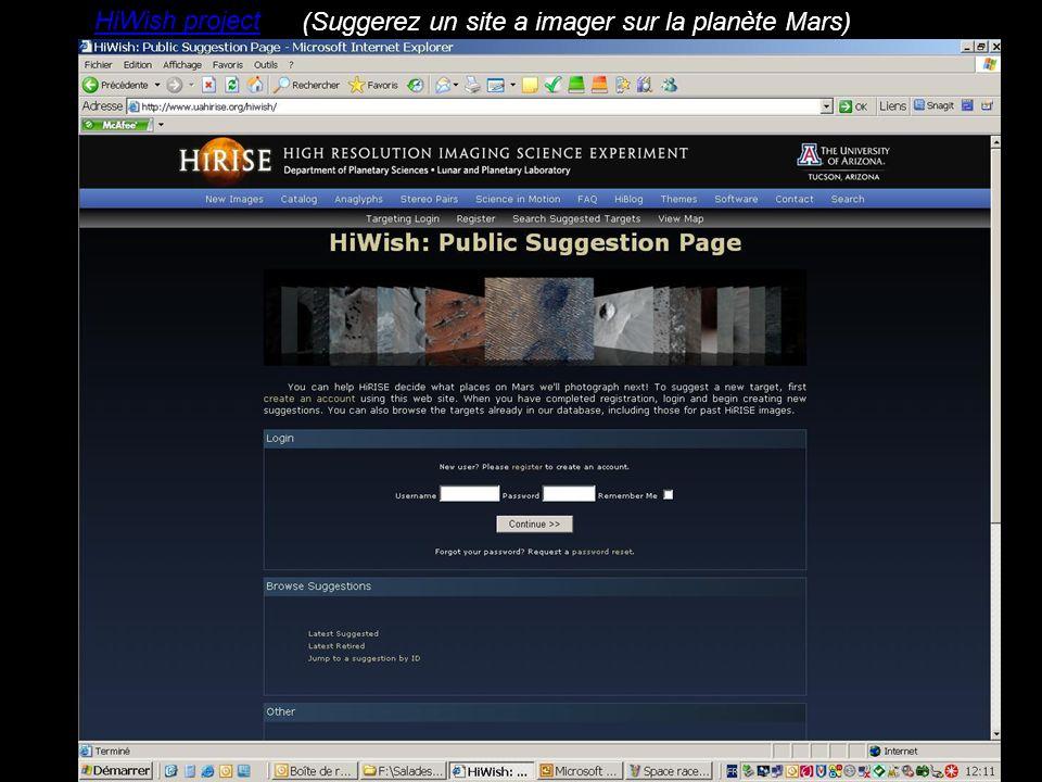 HiWish project (Suggerez un site a imager sur la planète Mars)
