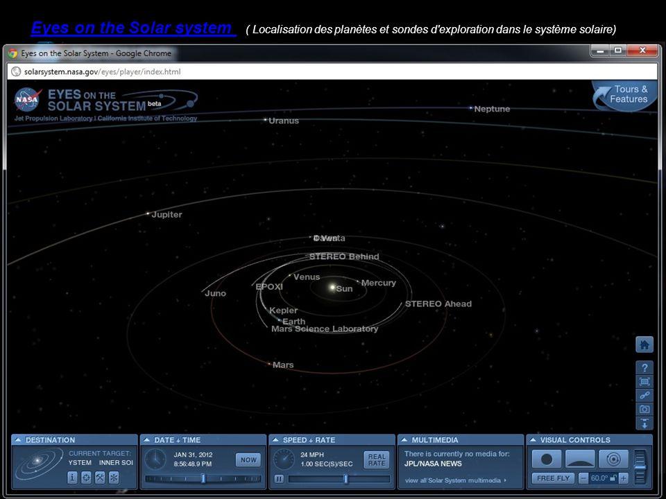 Eyes on the Solar system ( Localisation des planètes et sondes d'exploration dans le système solaire)