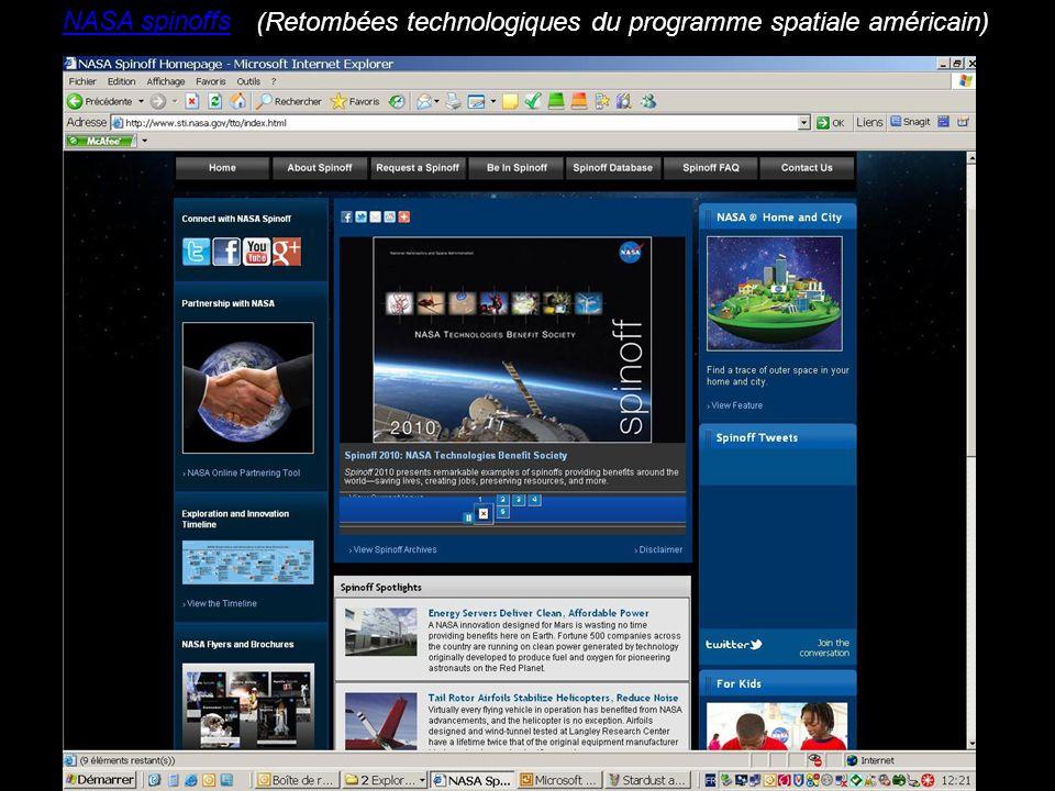 NASA spinoffs (Retombées technologiques du programme spatiale américain)