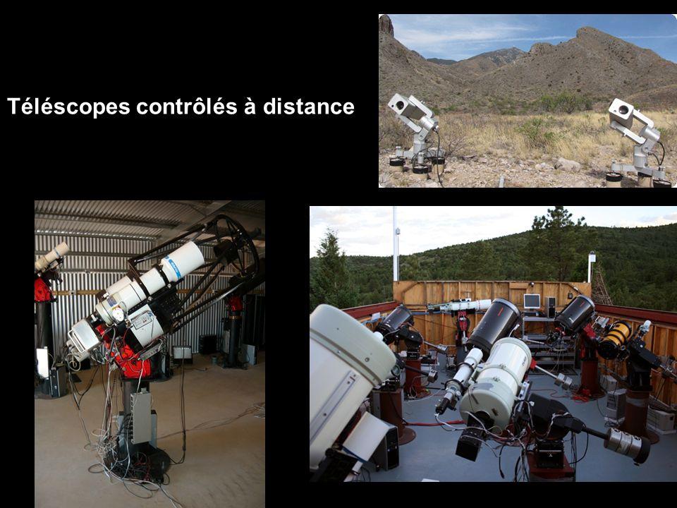 Téléscopes contrôlés à distance