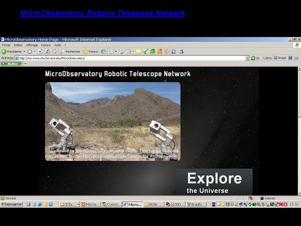 MicroObservatory Robotic Telescope Network