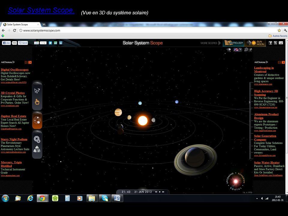 Solar System Scope. (Vue en 3D du système solaire)