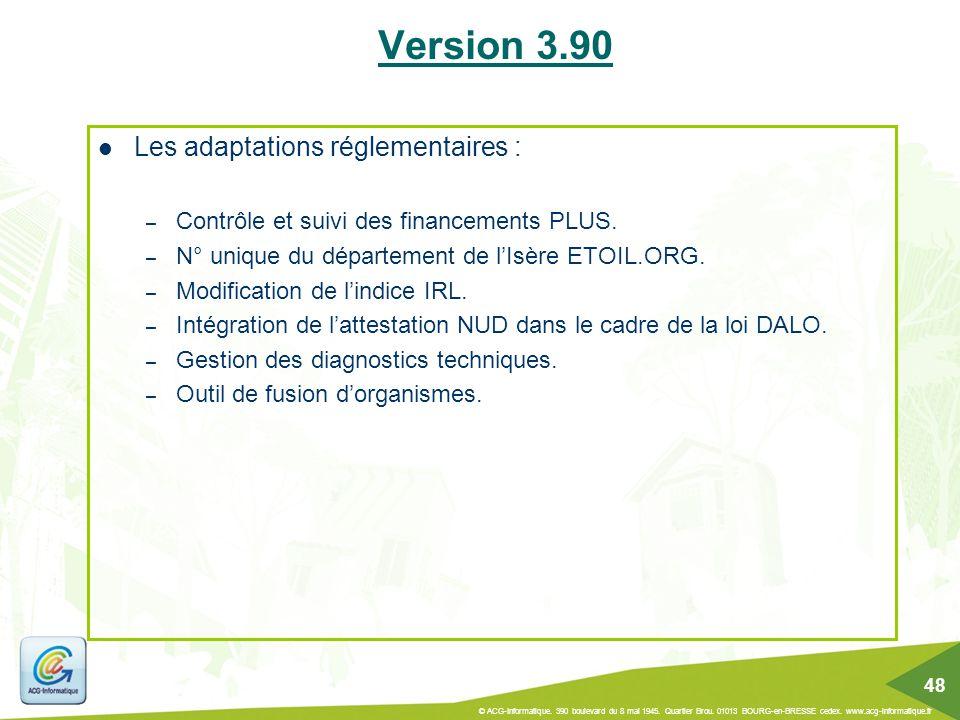 Les adaptations réglementaires : – Contrôle et suivi des financements PLUS. – N° unique du département de l'Isère ETOIL.ORG. – Modification de l'indic