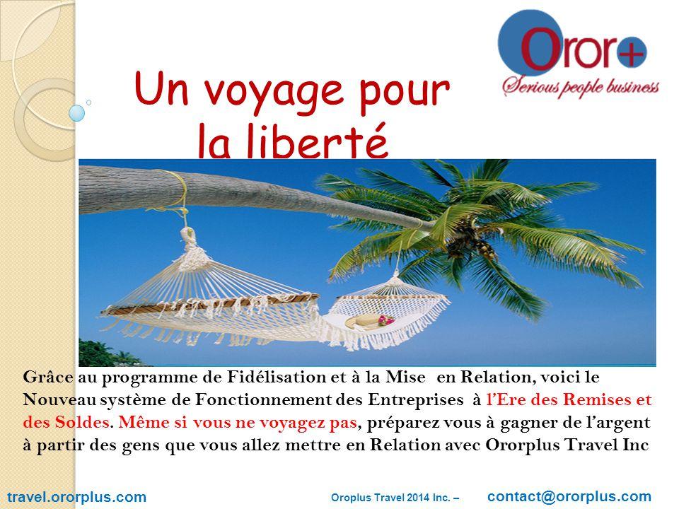 SERVICES VENDUS OU AVANTAGES DES MEMBRES travel.ororplus.com 1.