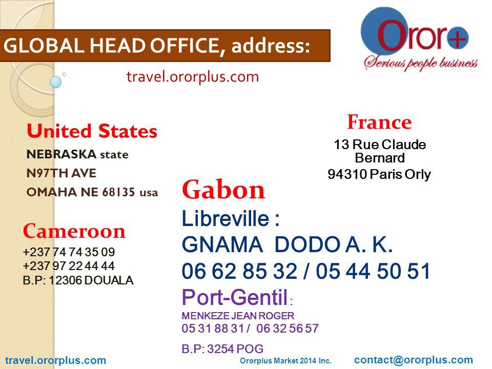 OURS PARTNERS travel.ororplus.com Oroplus Travel 2014 Inc. – contact@ororplus.com