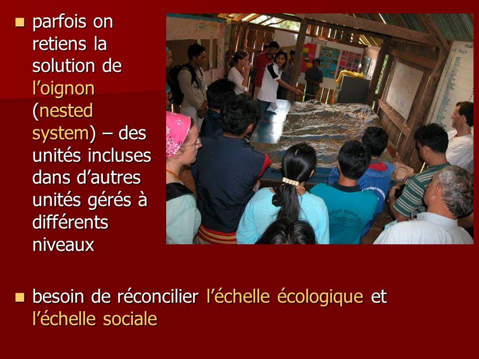 besoin de réconcilier l'échelle écologique et l'échelle sociale besoin de réconcilier l'échelle écologique et l'échelle sociale parfois on retiens la