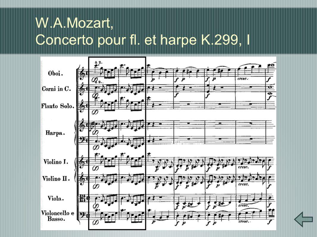 W.A.Mozart, Concerto pour fl. et harpe K.299, I