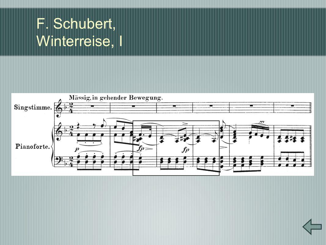 F. Schubert, Winterreise, I