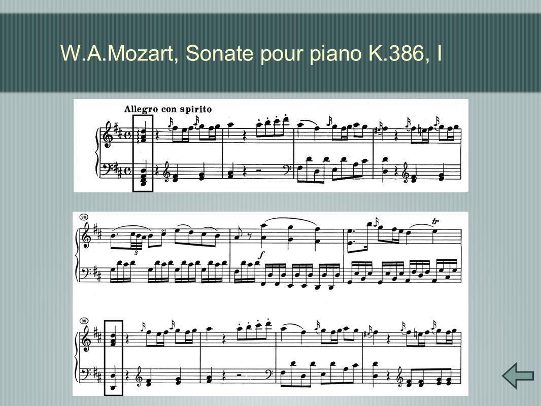 W.A.Mozart, Sonate pour piano K.386, I