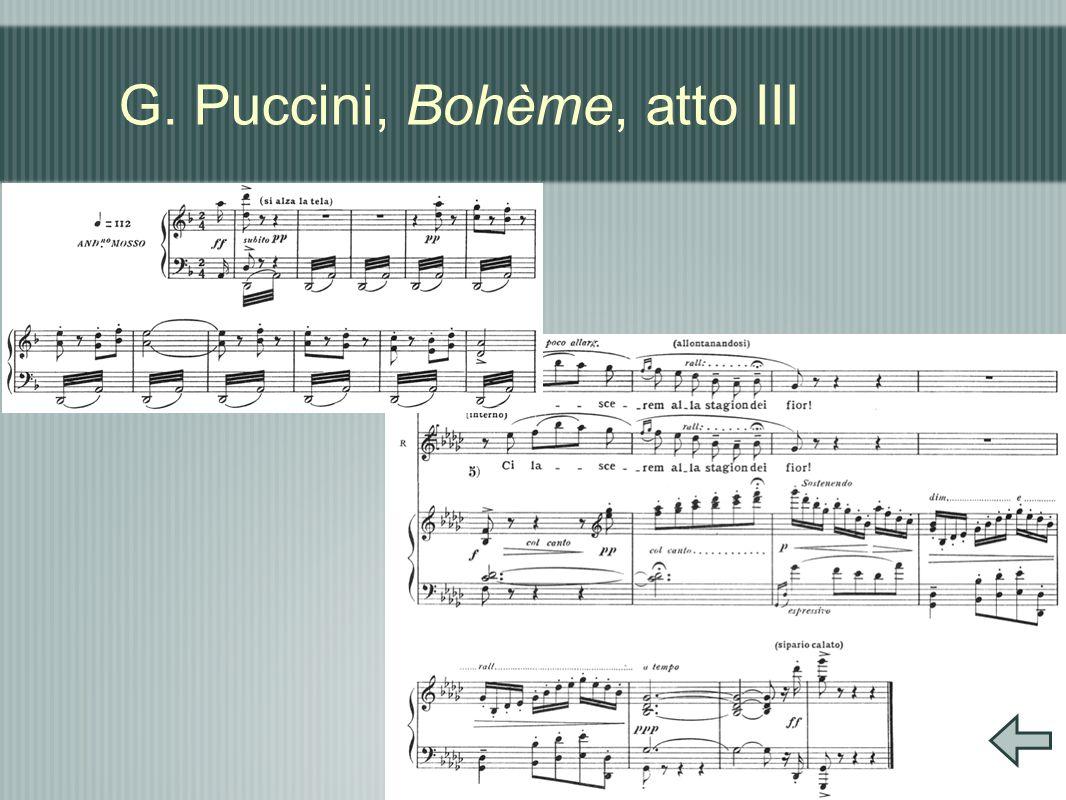 G. Puccini, Bohème, atto III