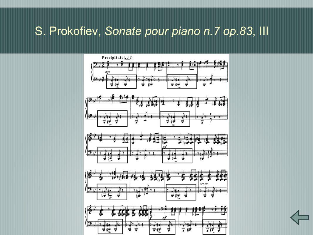 S. Prokofiev, Sonate pour piano n.7 op.83, III