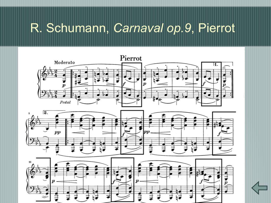 R. Schumann, Carnaval op.9, Pierrot