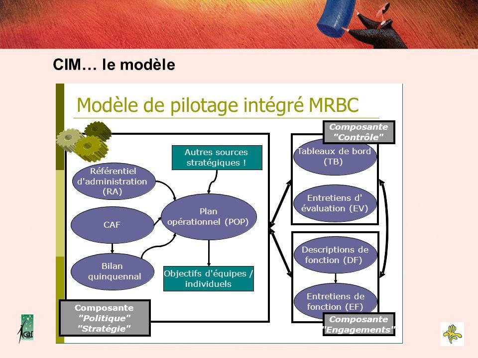 Bilan quinquennal Objectifs d'équipes / individuels CIM… le modèle