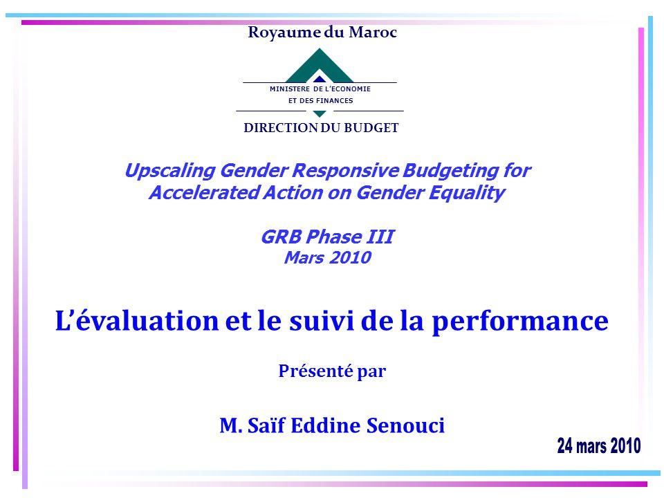 22 SOMMAIRE I II III Contexte Un pilotage par la performance Cas du Ministère de la Santé III Recommandations