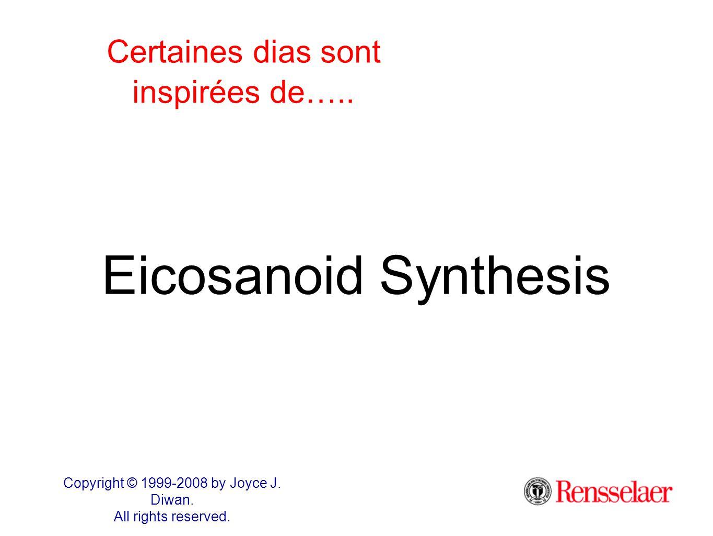 comprendre les eicosanoïdes, c'est comprendre la synthèse des molécules proinflammatoire comme les prostaglandines et les leukotriènes comprendre leur rôle comme dans l'inflammation, l'asthme, la formation de caillot sanguin etc...