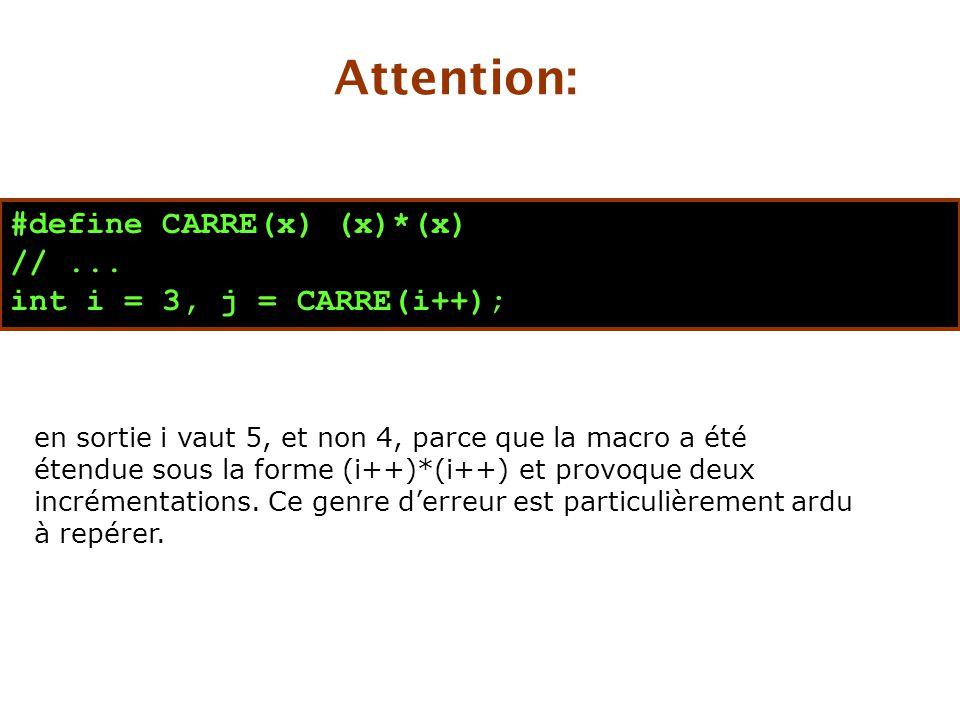#define CARRE(x) (x)*(x) //...
