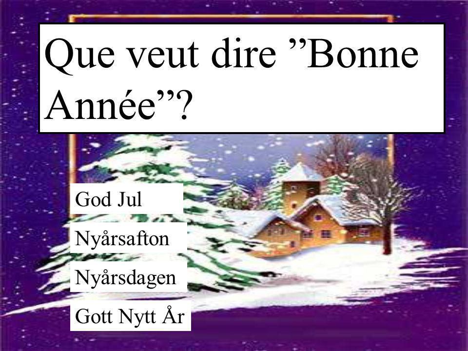 """Que veut dire """"Bonne Année""""? God Jul Nyårsafton Nyårsdagen Gott Nytt År"""