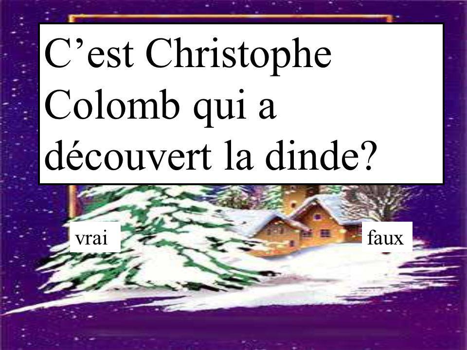 C'est Christophe Colomb qui a découvert la dinde? vraifaux