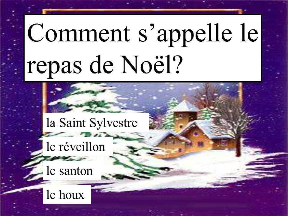 Comment s'appelle le repas de Noël? la Saint Sylvestre le réveillon le santon le houx