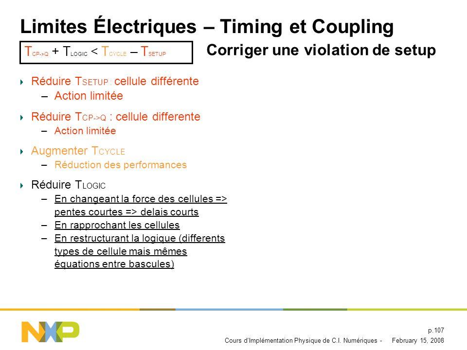 February 15, 2008Cours d Implémentation Physique de C.I.