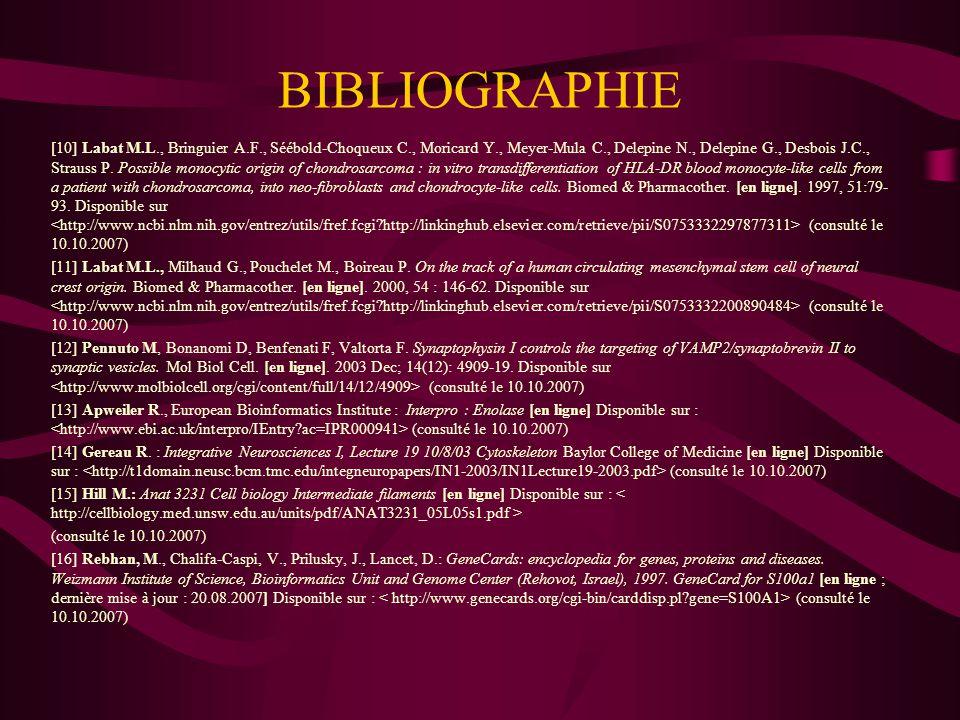 BIBLIOGRAPHIE [17] Savchenko VL, McKanna JA, Nikonenko IR, Skibo GG.