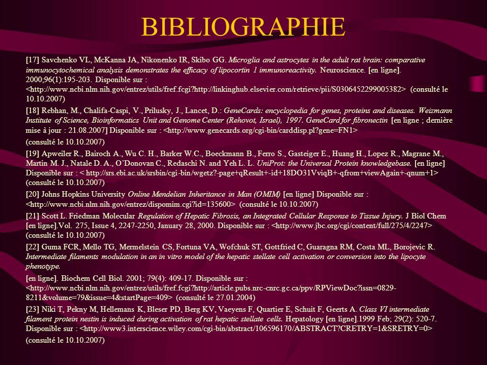BIBLIOGRAPHIE [24] Pittenger MF, Mackay AM, Beck SC, Jaiswal RK, Douglas R, Mosca JD, Moorman MA, Simonetti DW, Craig S, Marshak DR.